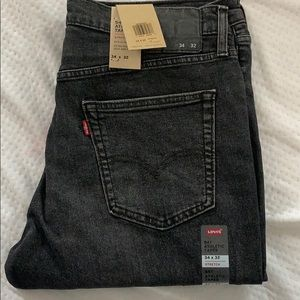 Mens levis 541 athletic taper fit black grey jeans